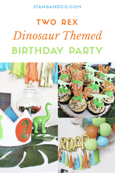 dinosaur birthday party two rex party dinosaur party decor green blue orange birthday