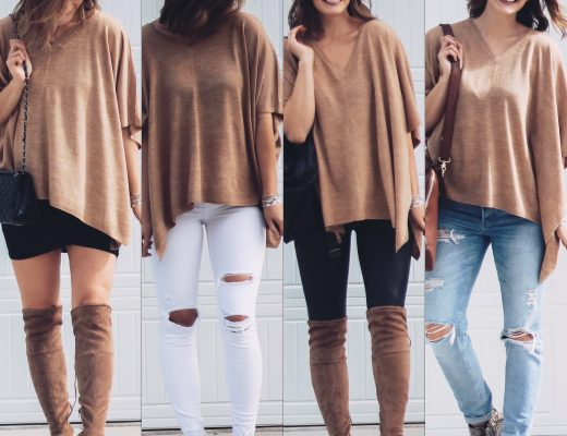 how to style a camel poncho top four ways