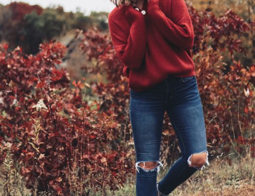 red-oversized-button-henley-sweater-chicwish