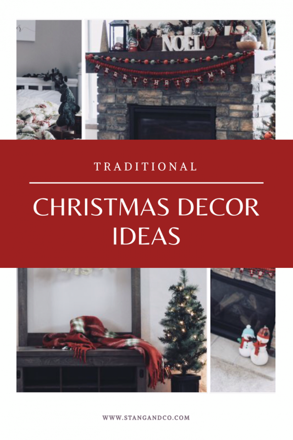 traditional red green buffalo plaid christmas decor ideas