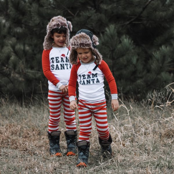 christmas pajamas trapper hat photo ideas for kids