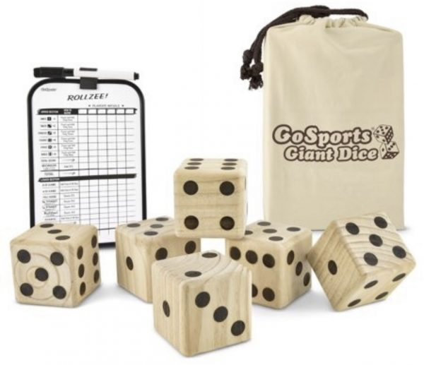 holiday gift oversized dice yard game