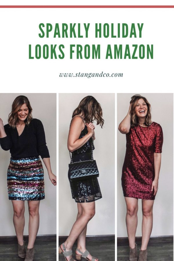Sparkly outfits for NYE and holiday parties you can get on Amazon