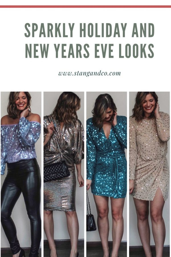 Sparkly outfits for holiday parties and more
