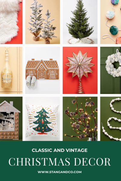 holliday decor and christmas items to decorate your home with retro and old fashioned style