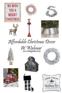 flocked wreath buffalo plaid stocking flocked garland red chrismtas lamp post steel tree collar christmas decor
