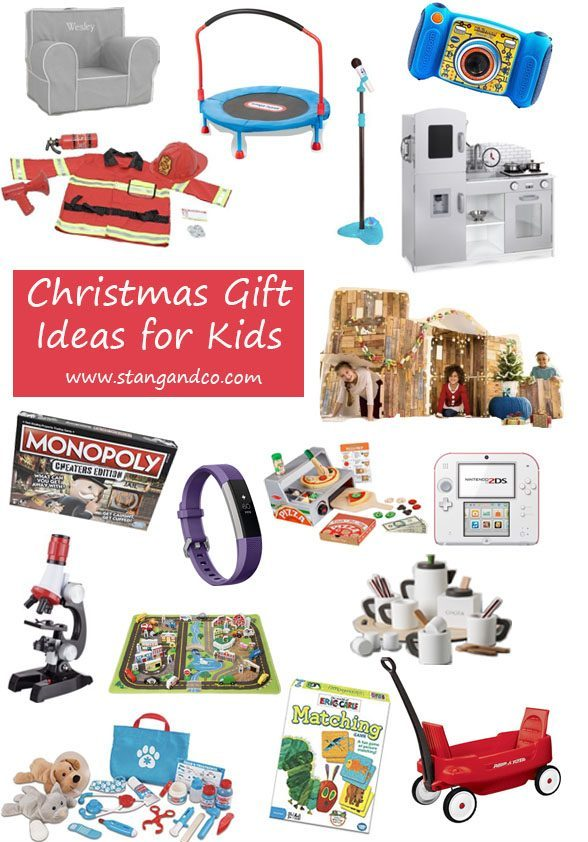 christmas gift idaes for kids ages four through ten