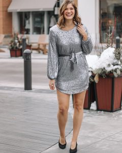 silver mini dress sequin mini dress sequin dress gray sequin dress sequin outfit ideas