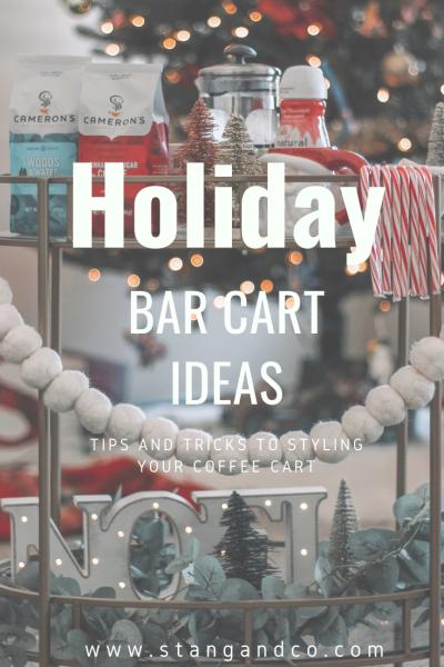 holiday bar cart christmas holiday bar cart styling holiday bar cart decor christmas bar cart decor