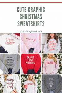 cozy and cute holiday graphic christmas sweaters under fifty dollars affordable christmas outfits