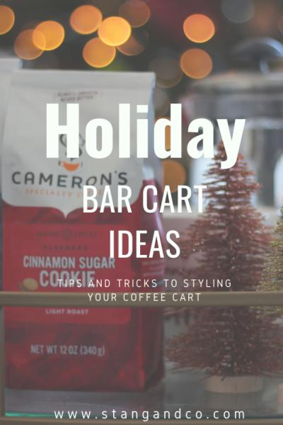 coffee cart cocoa bar hot chocolate bar holiday bar cart
