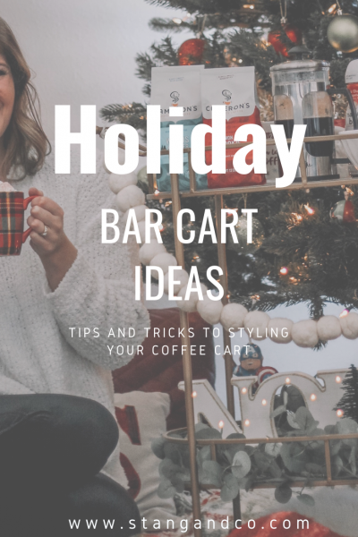 holiday bar cart christmas holiday bar cart styling holiday bar cart decor christmas bar cart decor