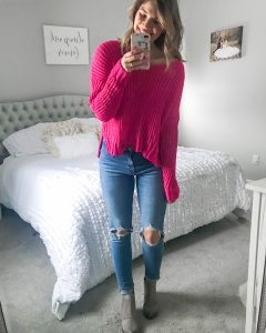 chenille sweater hot pink sweater pink lily boutique chenille sweater