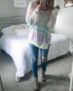 ombre top gradient top pastel ribbed shirt