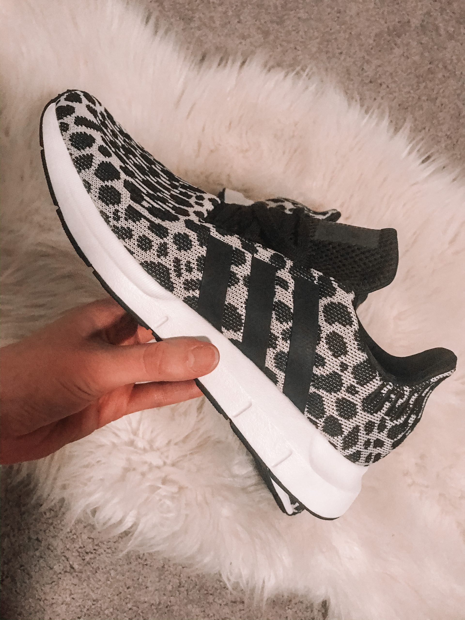 adidas swift run cheetah print tennis shoes
