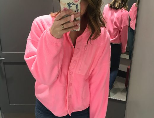 target dressing room pink jacket button front jacket sherpa jacket floral loopy phone case