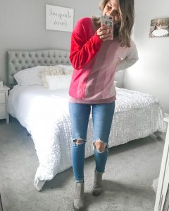 pink chenille top v neck chenille top valentines day sweater