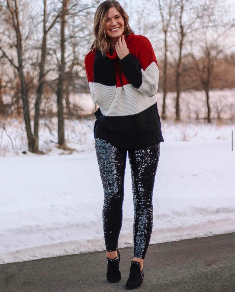 black express sequin high waisted leggings
