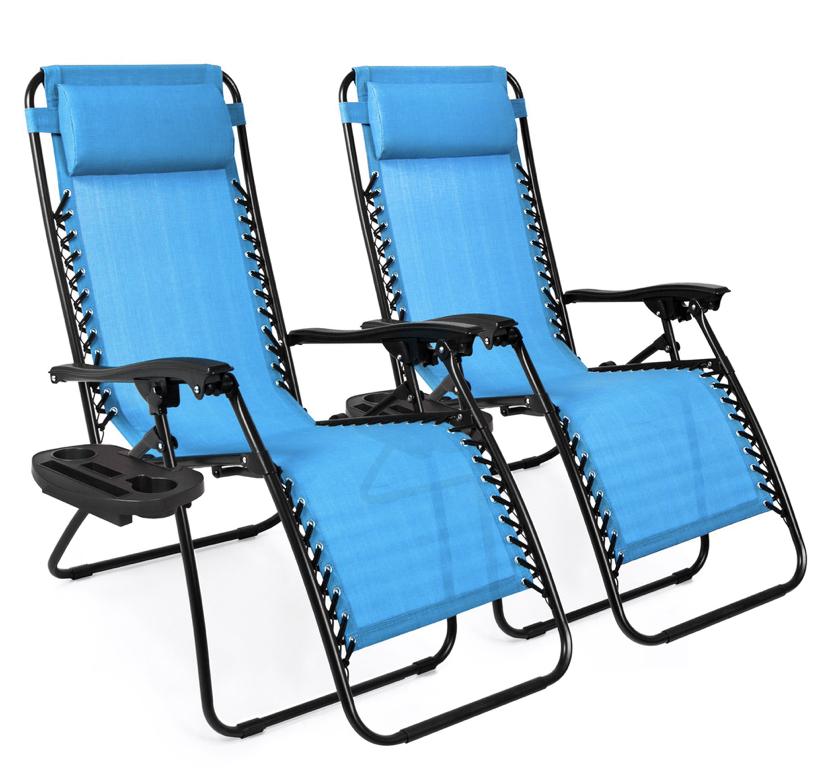 set of 2 zero gravity chairs / patio furniture / walmart zero gravity chairs