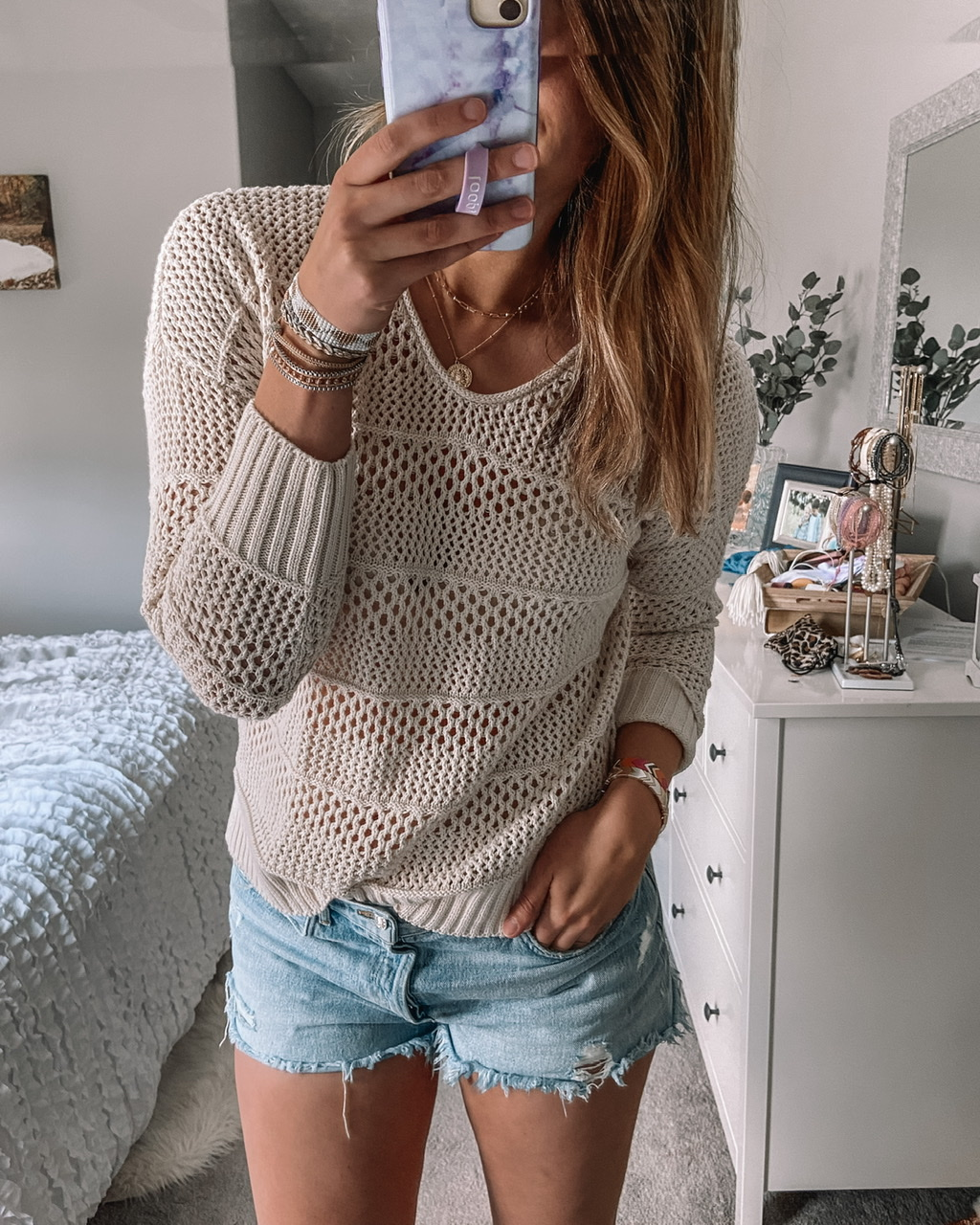 open stitched cream universal threads sweater agolde parker shorts white bedroom kersha sandals rhinestone sandals target shoes