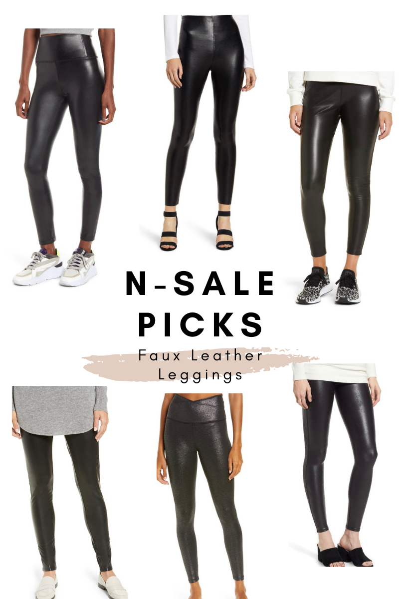 nordstrom anniversary picks faux leather leggings