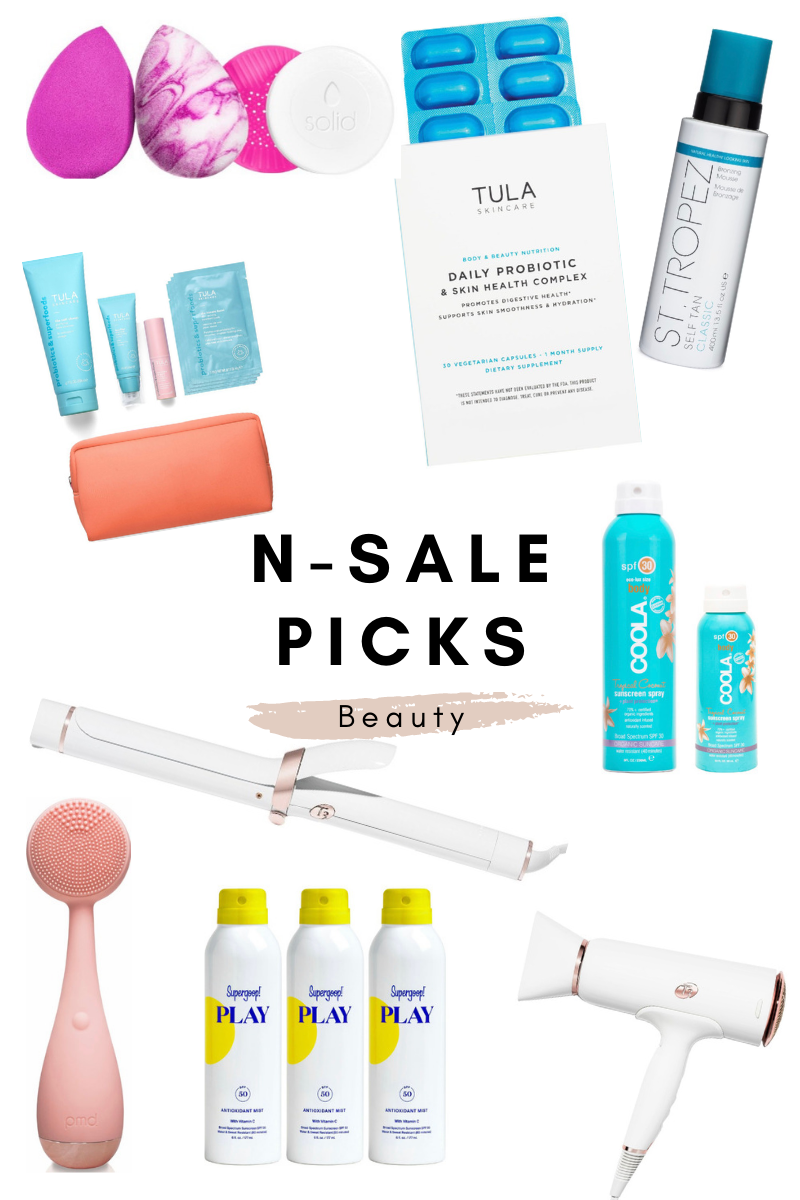 nordstrom anniversary picks beauty t3 tools coola tula st tropez supergoop beauty blender
