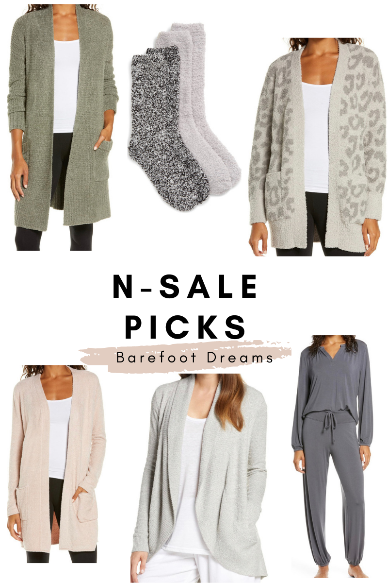 nordstrom anniversary picks barefoot dreams cardigan sweaters loungewear bfd socks