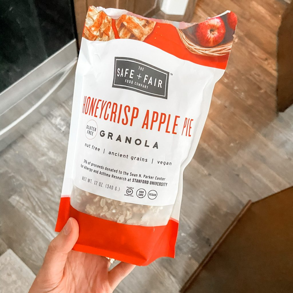 safe and fair honeycrisp apple granola