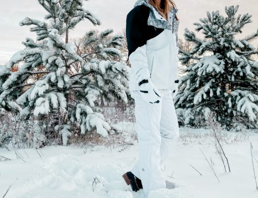 white diamond winter jacket / black and white winter snow gear / womens tall snow pants / long snowpants