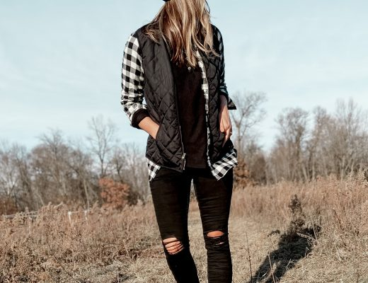 sorel joan explorer boots / black vest / black and white buffalo plaid outfits / fall outfits / hiking style