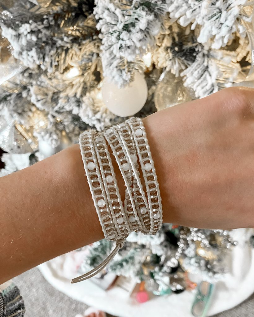 beige crystal wrap bracelet / victoria emerson / stocking stuffers / gifts for her / womens stocking stuffers