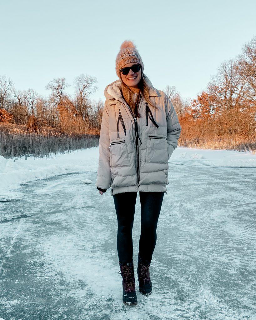 the amazon coat / orolay coat / duck boots / plaid duck boots / kamik boots / winter outfits / puffer coat / winter coat / prescription sunglasses