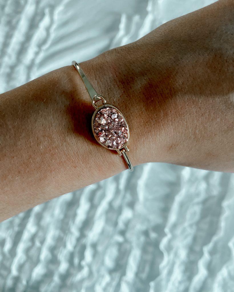 rose gold jewelry / geode bracelet / blush jewelry / amazon jewelry
