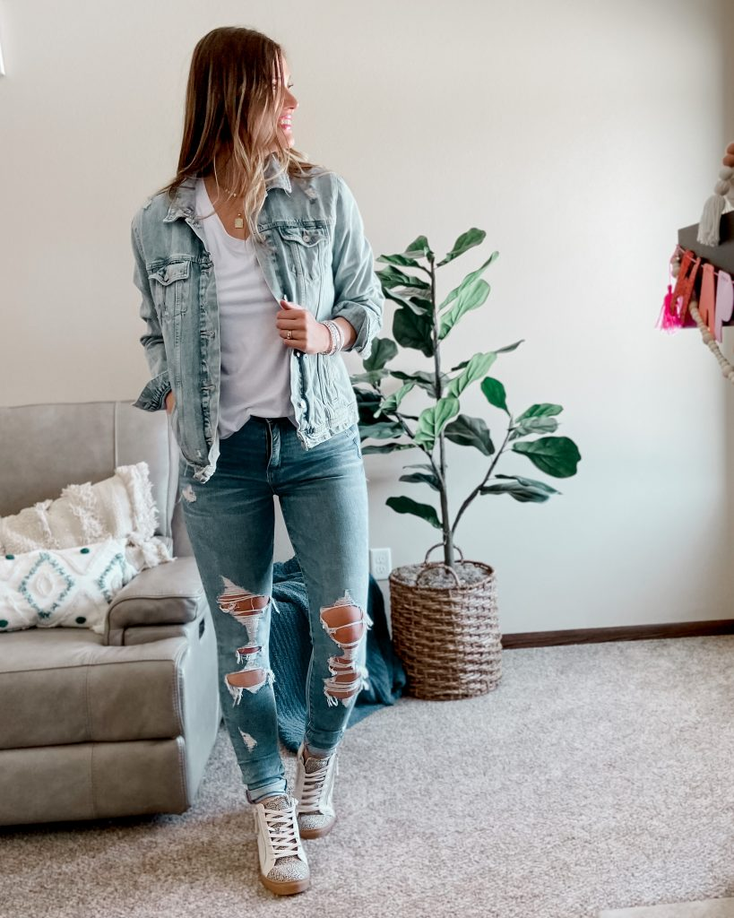 top selling jean jacket / old navy tall denim jacket / jean jacket / canadian tuxedo / hightop sneakers / high top tennis shoes