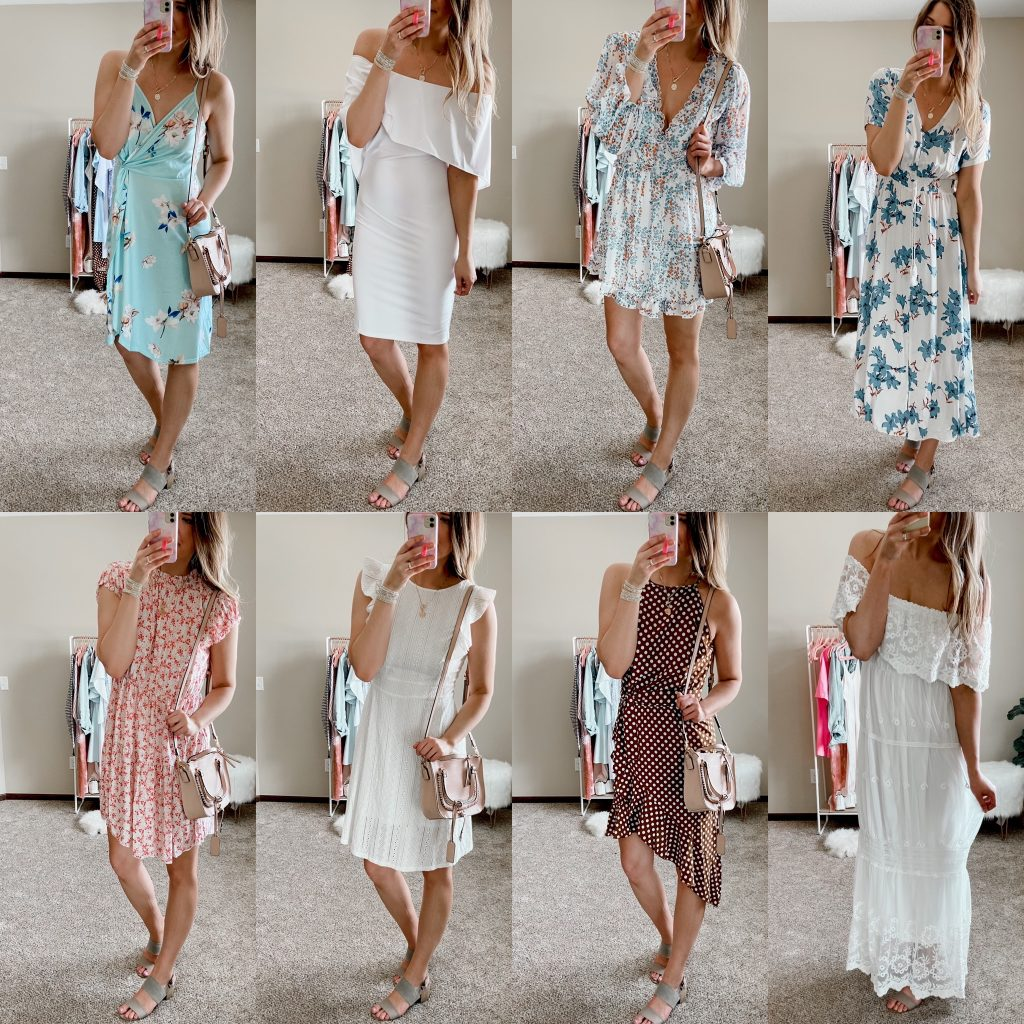 maxi dress / floral dress / mini dress / white dress / bridal shower dress / rehearsal dinner dress / red floral dress / polka dot dress / lace maxi dress / spring dresses
