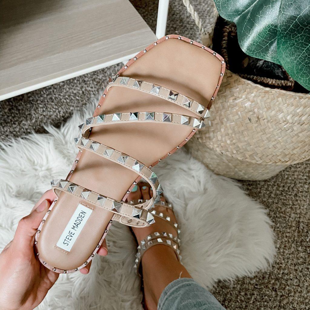 steve madden skyler sandals / studded sandals / sparkly sandals