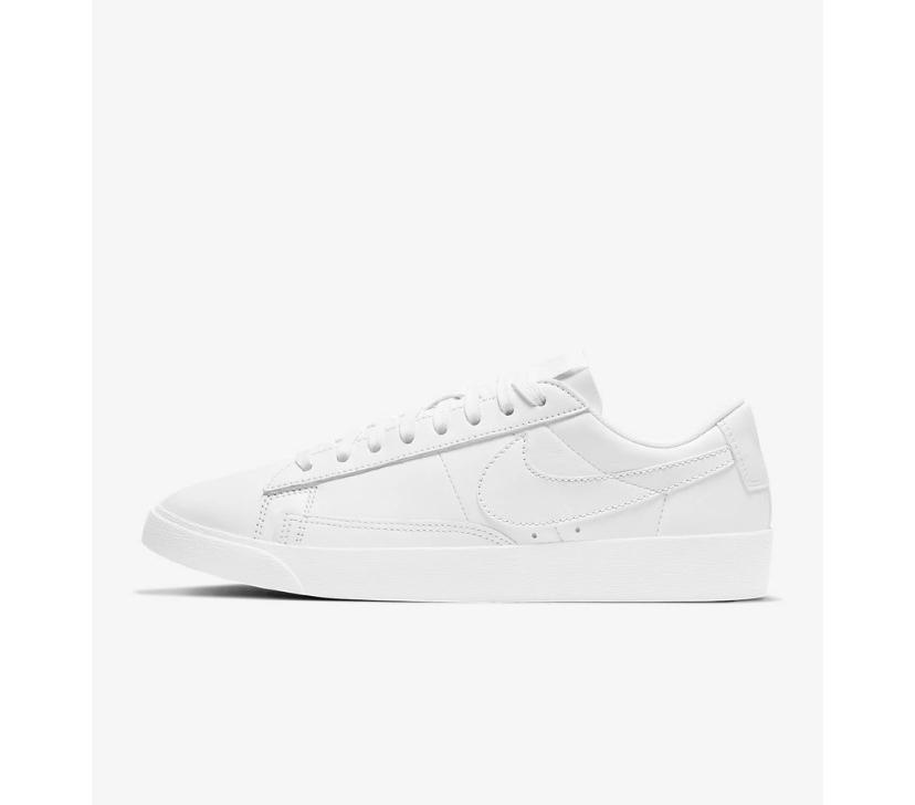 white nike blazer sneakers